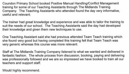 positive conflict management training testimonial